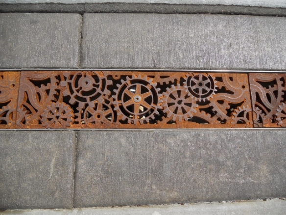 Artistic grate, architectural decoration,Spokane